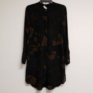 Wilfred Floral Printed Silk Shirt Dress Size XS